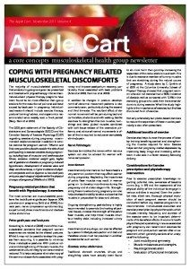 Coping With Pregnancy Related Musculoskeletal Discomforts