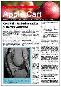 Knee Pain: Fat Pad Irritation or Hoffa's Syndrome