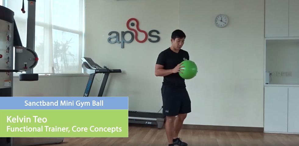 mini gym ball exercises