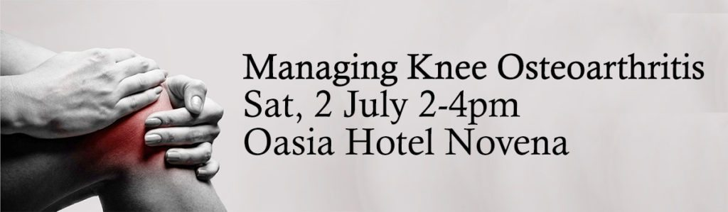 Managing Knee Osteoarthritis Sat 2 July